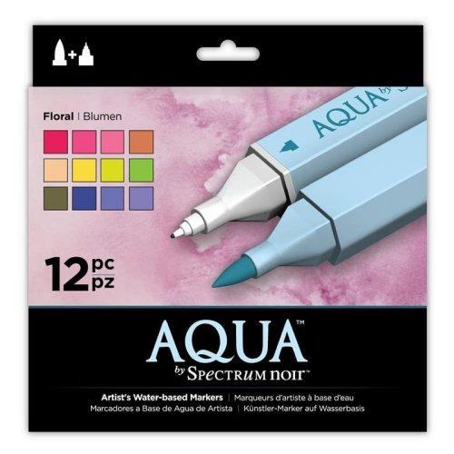 SPECN-AQ12-FLO Spectrum Noir Aqua Markers 12pk – Floral