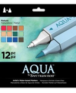 Spectrum Noir Aqua Markers 12pk - Nature