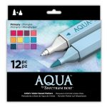 Spectrum Noir Aqua Markers 12pk - Primary