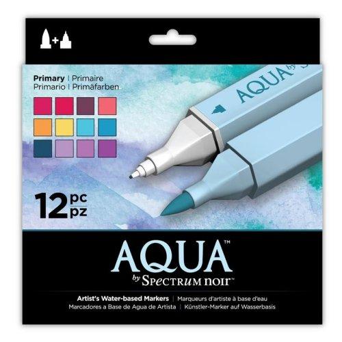 SPECN-AQ12-PRI Spectrum Noir Aqua Markers 12pk – Primary