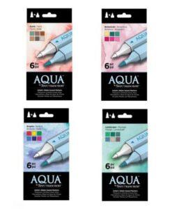 Spectrum Noir Aqua Markers - 4 x set van 6