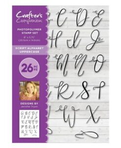 Crafter's Companion Clear Stamp A5 - Script Alphabet Uppercase