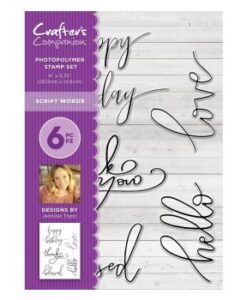 Crafter's Companion Clear Stamp A5 - Script Words