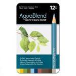 Spectrum Noir 12 AquablendBlend Potloden – Earth Tones