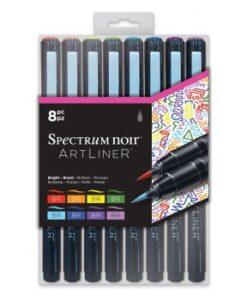 Spectrum Noir Artliner 8pk - Bright - Brush