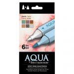 Spectrum Noir Aqua Markers 6pk –Earth