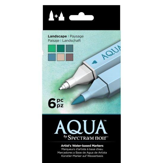 SPECN-AQ6-LAN Spectrum Noir Aqua Markers 6pk – Landscape