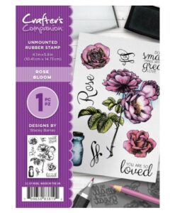 Crafter's Companion A6 Stempel – Rose Bloom