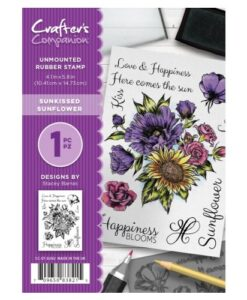 Crafter's Companion A6 Stempel – Sunkissed Sunflower