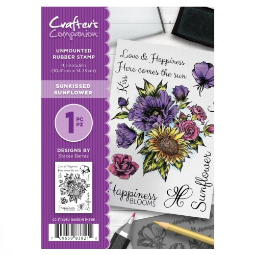 CC-ST-SUSU Crafter's Companion A6 Stempel – Sunkissed Sunflower