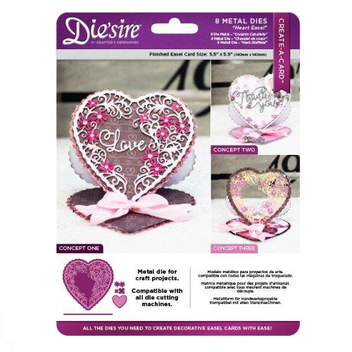 Die'sire Create a Card – Heart Easel