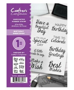 Crafter's Companion Stempel – Birthday Greetings