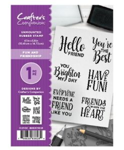 Crafter's Companion Stempel – Fun and Friendship