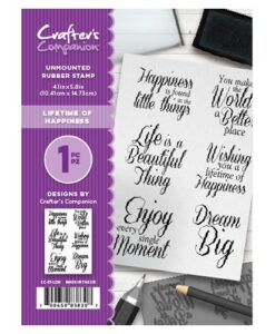 Crafter's Companion Stempel – Lifetime of Happiness