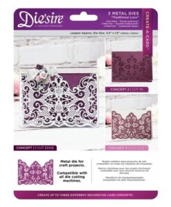 Die'sire Create a Card Cut on Edge - Traditional Lace