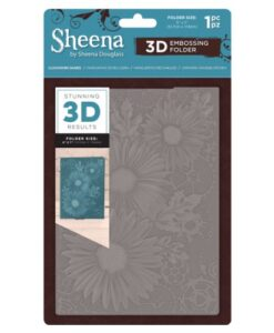 Sheena Douglass 3D Embossing Folder – Clockwork Daisies