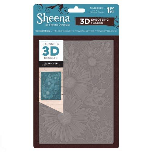 Sheena Douglass 3D Embossing Folder – Clockwork Daisies