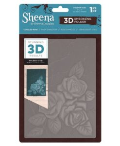 Sheena Douglass 3D Embossing Folder – Tangled Rosre