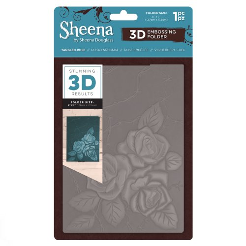 Sheena Douglass 3D Embossing Folder – Tangled Rosre