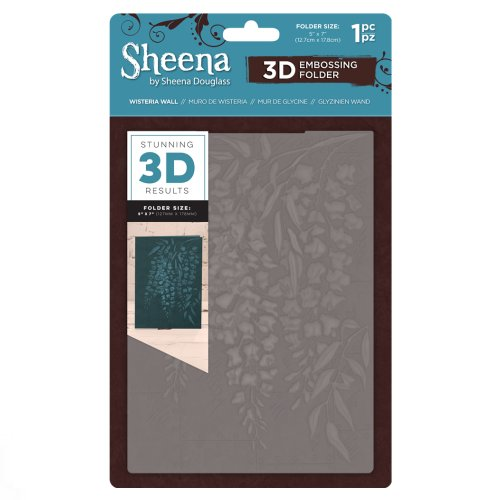 Sheena Douglass 3D Embossing Folder – Wisteria Wall