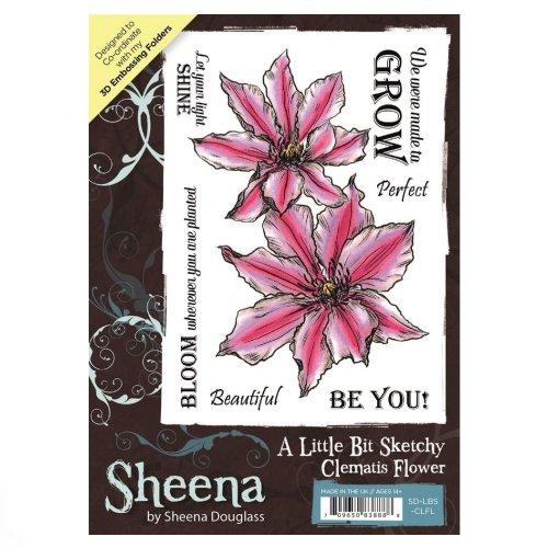 A Little Bit Sketchy A6 UM Stamp – Clematis Flower