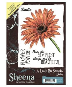 A Little Bit Sketchy A6 UM Stamp – Daisy