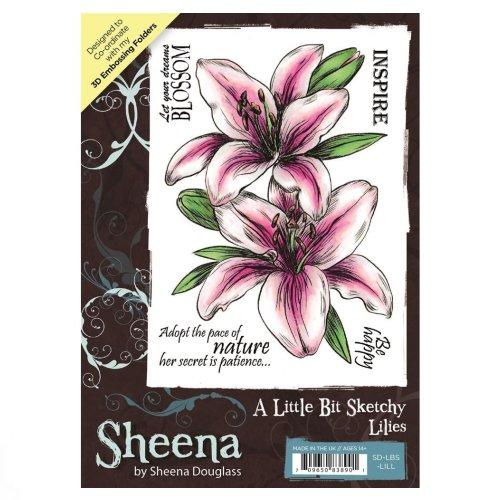 SD-LBS-LILL A Little Bit Sketchy A6 UM Stamp – Lilies