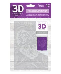 Crafter's Companion 3D Embossing Folder - Love Blossoms