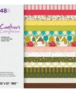 Crafter's Companion Paper Pad - Detailed Decorations 30.5x30.5