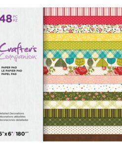 Crafter's Companion Paper Pad - Detailed Decorations 15x15