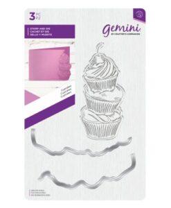 Gemini Clear Stamp & Die Set - Cupcakes