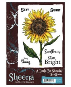 A Little Bit Sketchy A6 UM Stamp – Sunflower