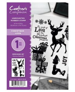 Crafter's Companion A6 UM Stempel – Christmas Love
