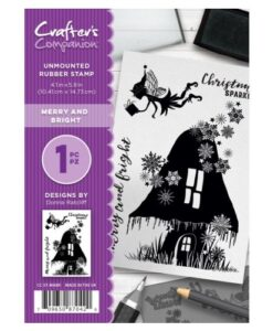 Crafter's Companion A6 UM stempel – Merry and Bright