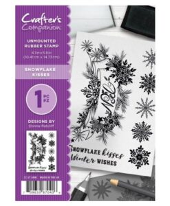 Crafter's Companion A6 UM Stempel – Snowflake Kisses