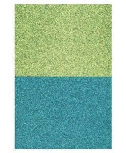 Eazycraft Glitter Papier – Lime - Petrol Inhoud 4 vel 200 gram 2 vel blauw- 2 vel aqua