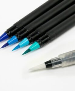 Eazycraft Aqua Brushmarkers - Blue's