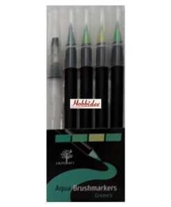 Eazycraft Aqua Brushmarkers - Green's