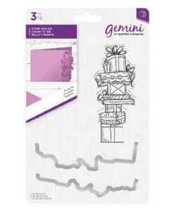 Gemini Christmas Clear Stamp & Die Set - Presents