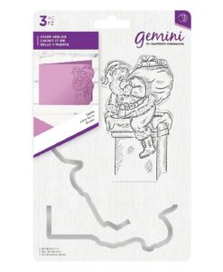 Gemini Christmas Clear Stamp & Die Set - Santa