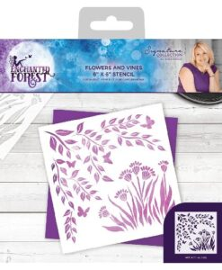 Enchanted Forest Stencil - Flowers & Vines