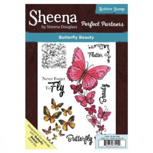 Sheena Douglass Perfect Partners A5 UM Stamp – Butterfly Beauty