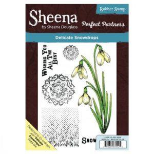 Sheena Douglass Perfect Partners A5 UM Stamp – Delicate Snowdrops