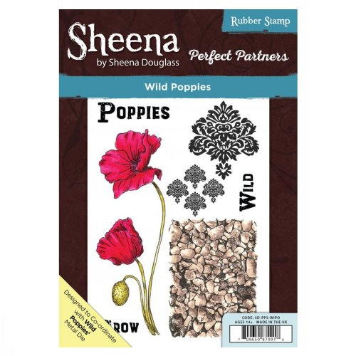 Sheena Douglass Perfect Partners A5 UM Stamp – Wild Poppies