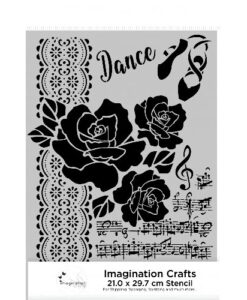 Imagination Crafts A4 Art Stencil – Musical Rose
