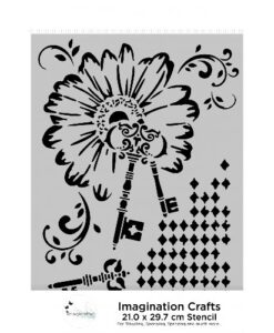 Imagination Crafts A4 Art Stencil – Diamond Key