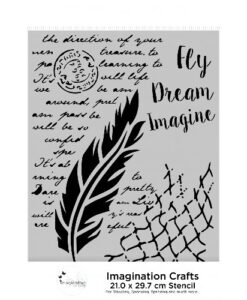 Imagination Crafts A4 Art Stencil – Fly and Dream