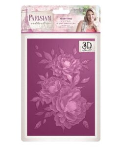 Sara Signature Collection Parisian 3D Embossing Folder - Peony Trio