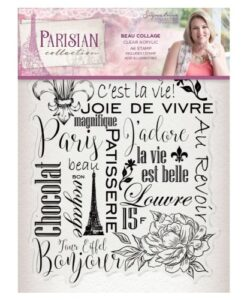 Sara Signature Collection Parisian Acryl Stamp - Beau Collage
