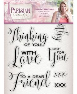 Sara Signature Collection Parisian Acryl Stamp - Everyday Greetings